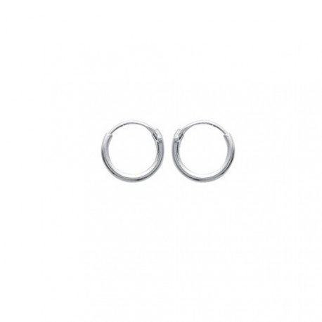 Boucles d'oreilles Créoles ARGENT 8mm