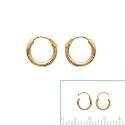 Boucles d'oreilles Créoles Plaqué Or 10mm