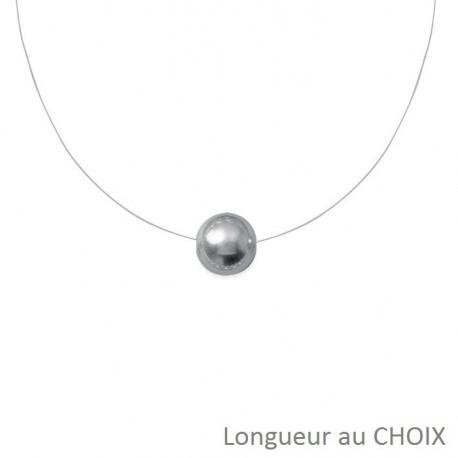 collier perle fil transparent