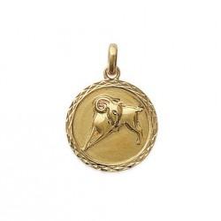 Pendentif Médaille Zodiaque BELLIER Plaqué Or