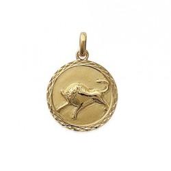 Pendentif Médaille Zodiaque TAUREAU Plaqué Or