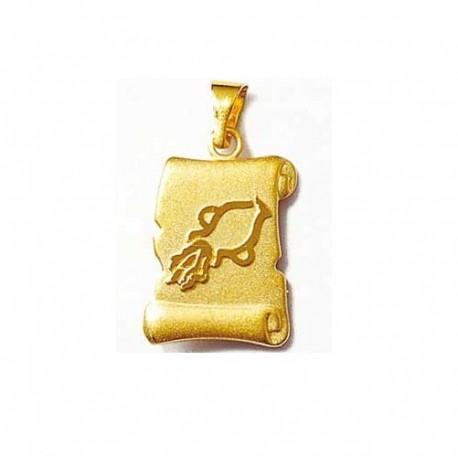pendentif verseau or