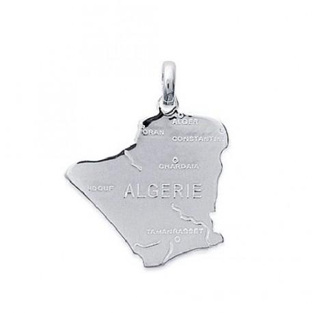 PENDENTIF carte d' ALGERIE en ARGENT