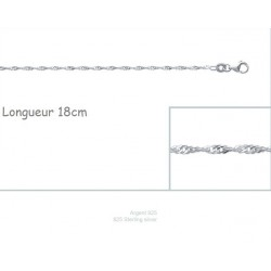 Bracelet Maille Singapour Torsadée En Argent Massif