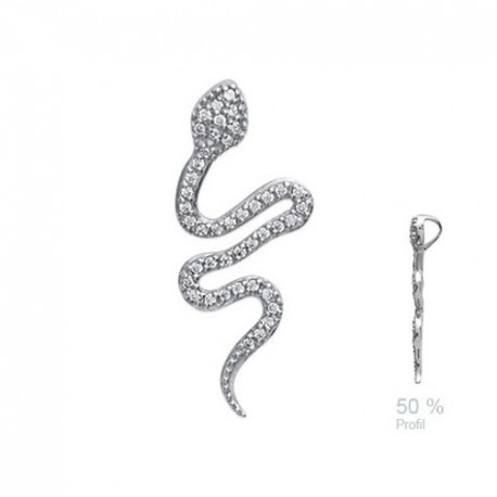 Serpent DESIGN + Zirconium en ARGENT