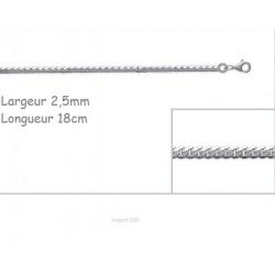 Bracelet Maille Anglaise En Argent Massif