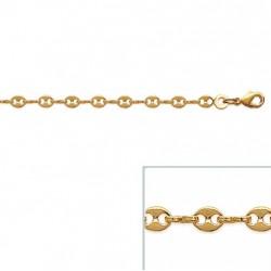 Bracelet Grain de Café 3,6 mm En Plaqué Or