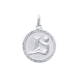 Pendentif Médaille Zodiaque VERSEAU ARGENT