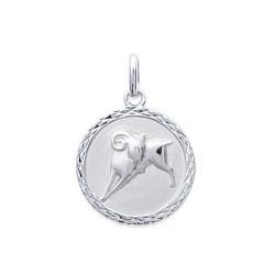 Pendentif Médaille Zodiaque BELIER ARGENT