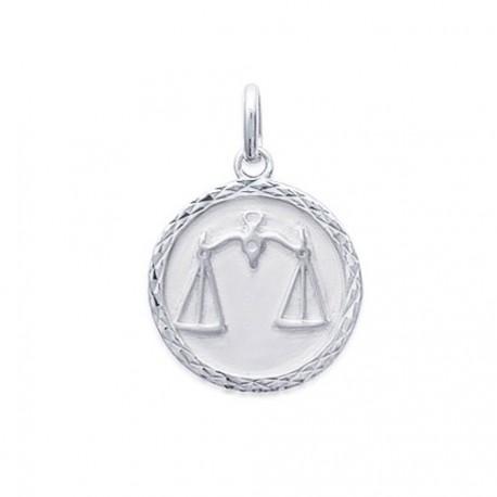 Pendentif Médaille Zodiaque BALANCE ARGENT
