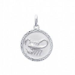 Pendentif Médaille Zodiaque SCORPION ARGENT