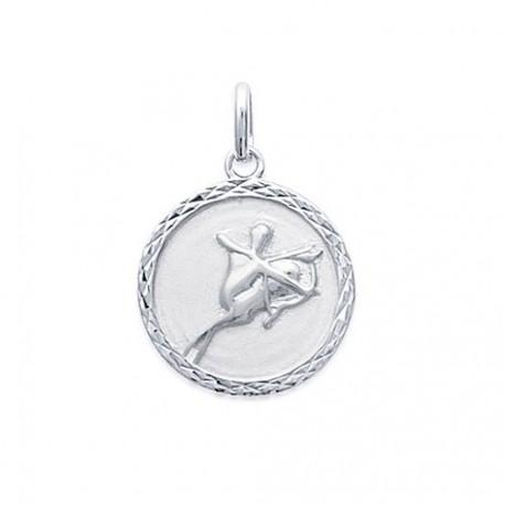 Pendentif Médaille Zodiaque SAGITAIRE ARGENT
