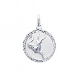 Pendentif Médaille Zodiaque CAPRICORNE ARGENT