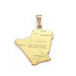 PENDENTIF carte d' ALGERIE Plaqué OR