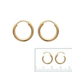 Boucles d'oreilles Créoles Plaqué Or 12mm