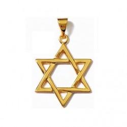 PENDENTIF ETOILE étoile de DAVID en plaqué or