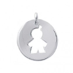 PENDENTIF médaille Petite GARCON enfant MAMAN ARGENT