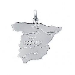 PENDENTIF carte ESPAGNE ESPANA SPAIN en ARGENT
