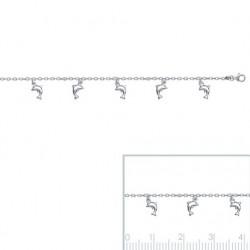 Bracelet Dauphin 6 Breloques En Argent Massif