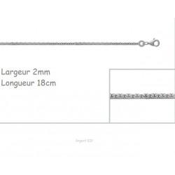 Bracelet Maille Haricot En Argent Massif