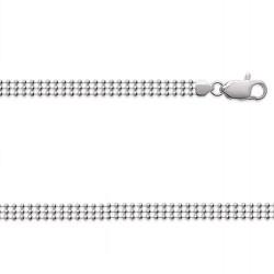 Bracelet Boules 3 Rangs En Argent Massif