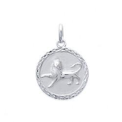 Pendentif Médaille Zodiaque LION ARGENT