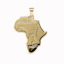 PENDENTIF carte d' AFRIQUE Plaqué OR